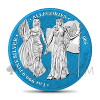 The Allegories - Columbia & Germania 1oz - Space Blue