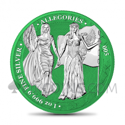 The Allegories - Columbia & Germania 1oz - Space Green