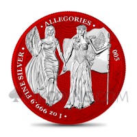 The Allegories - Columbia & Germania 1oz - Space Red