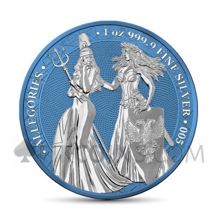 The Allegories - Britannia & Germania 2019 1oz - Space Blue