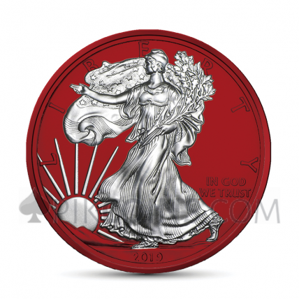 American Eagle 1 USD 2019 - Space Red