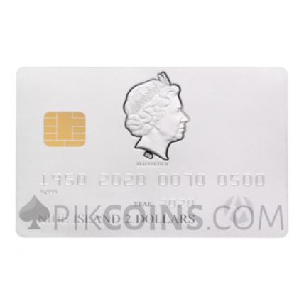 Credit Card 70th Anniversary Silver 2$ Niue 2020
