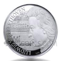 Ludwig van Beethoven 2$ 1oz Niue 2020