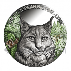 Lynx - The European Big Five 5 Cedis 5oz Republic of Ghana 2021