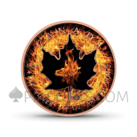 "Maple Leaf 5 CAD 2018 - ""Four Elements"" Serie - Fire"