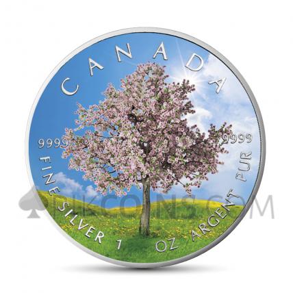 "Maple Leaf 5 CAD 2019 - ""Four Seasons"" Serie - Spring"