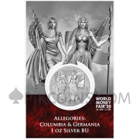 The Allegories Columbia & Germania 1oz Silver 2019 World Money Fair '20 Edition