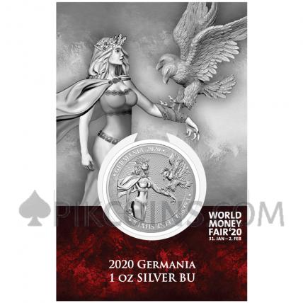Germania BU 1oz Silver 2020 World Money Fair '20 Edition