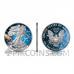American Eagle 1 USD 2021 - Glowing Galaxy