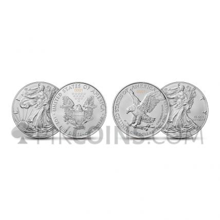 American Eagle - The New Heritage 1 USD 2 x 1oz Set USA 2021