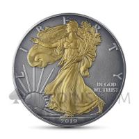 American Eagle 1 USD 2019 - Antique Gold