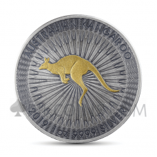 Kangaroo 1 AUD 2019 - Antique Gold