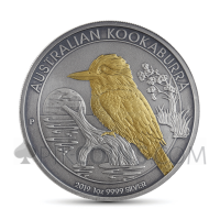 Kookaburra 1 AUD 2019 - Antique Gold