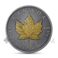 Maple Leaf 5 CAD 2019 - Antique Gold