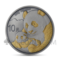 Panda 10 Yuan 2019 - Antique Gold