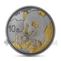 Panda 10 Yuan 2019 - Antique Gold