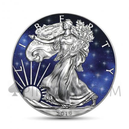 American Eagle 1 USD 2019 - Glowing Galaxy
