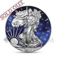 American Eagle 1 USD 2019 - Glowing Galaxy