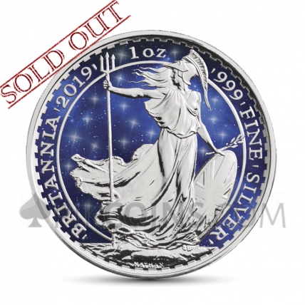 Britannia 2 £ 2019 - Glowing Galaxy