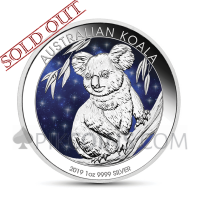 Koala 1 AUD 2019 - Glowing Galaxy