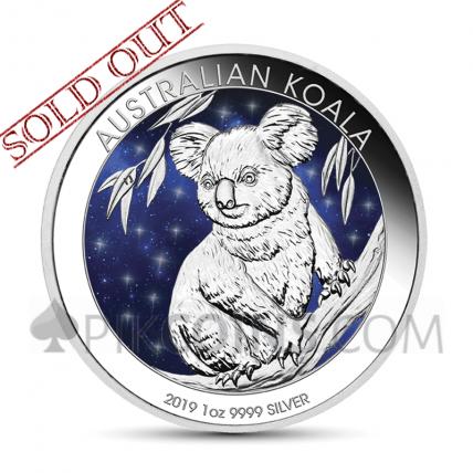 Koala 1 AUD 2019 - Glowing Galaxy