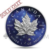 Maple Leaf 5 CAD 2019 - Glowing Galaxy