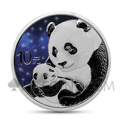 Panda 10 Yuan 2019 - Glowing Galaxy