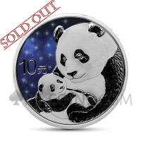 Panda 10 Yuan 2019 - Glowing Galaxy