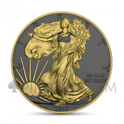 American Eagle 1 USD 2019 - Golden Ring