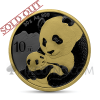 Panda 10 Yuan 2019 - Golden Ring