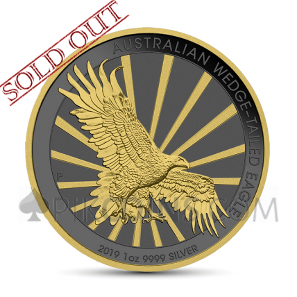 Wedge-Tailed Eagle 1 AUD 2019 - Golden Ring