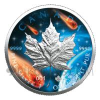 Maple Leaf 5$ 2021 - Glowing Galaxy
