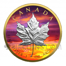 Maple Leaf - Sunset 5 CAD 1oz Canada 2021