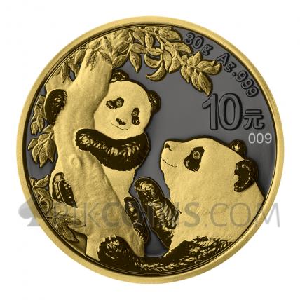 Panda - Golden Ring 10¥ 30g China 2021