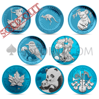 Space Blue 2019 - 8 Coins Set