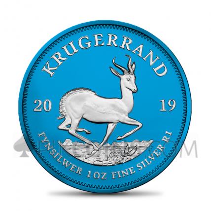 "Silver Krügerrand 2019 - ""Space Blue"""