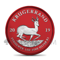 "Silver Krügerrand 2019 - ""Space Red"""