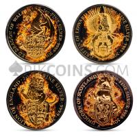 Queen's Beasts - 4 Coins Set
