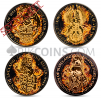 Queen's Beasts - 4 Coins Set