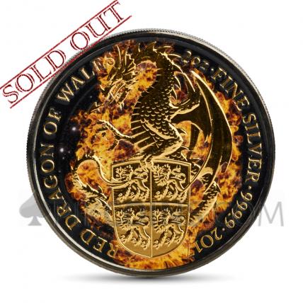 Burning Dragon 5 £ - Queen's Beasts