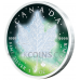 Frozen Maple Leaf 5 CAD - Aurora Rhodium
