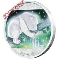 Frozen Panda 10 Yuan - Aurora Rhodium