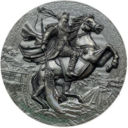 Five Tiger Generals Guan Yu 5$ Niue 3oz 2020