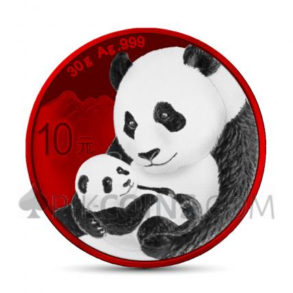 Panda 10 Yuan 2019 - Space Red