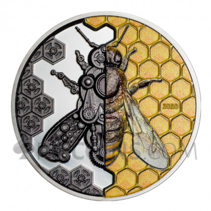 Mechanical Bee 2000 Togrog Mongolia 3oz 2020