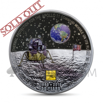 Moon Landing Apollo 11 50th Anniversary 20$ Cook Islands 2019