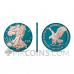 American Eagle - New Motive Space Blue & Rose Gold 1 USD 1oz USA 2021