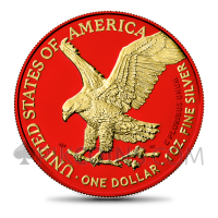 American Eagle - New Motive Space Red & Gold 1 USD 1oz USA 2021