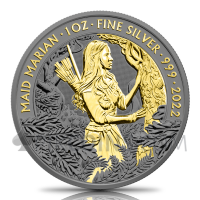 Maid Marian - Gold Ruthenium 2 Pounds 1oz Great Britain 2022