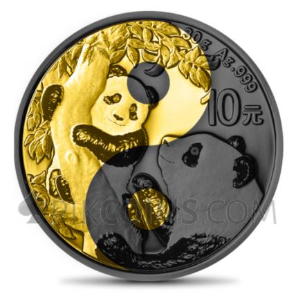 Panda Yin Yang 10 Yuan 30g China 2021
